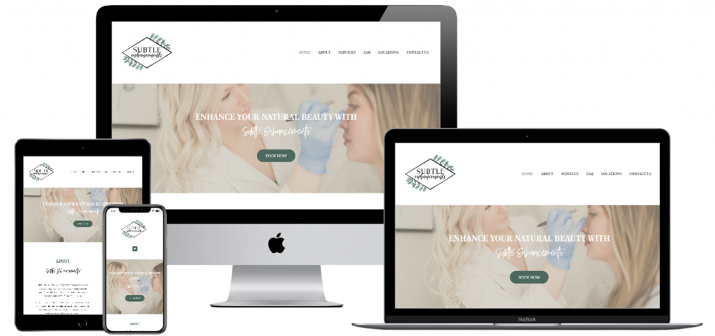 Web Design+Web Development+Beauty+Esthetics+Portfolio Item