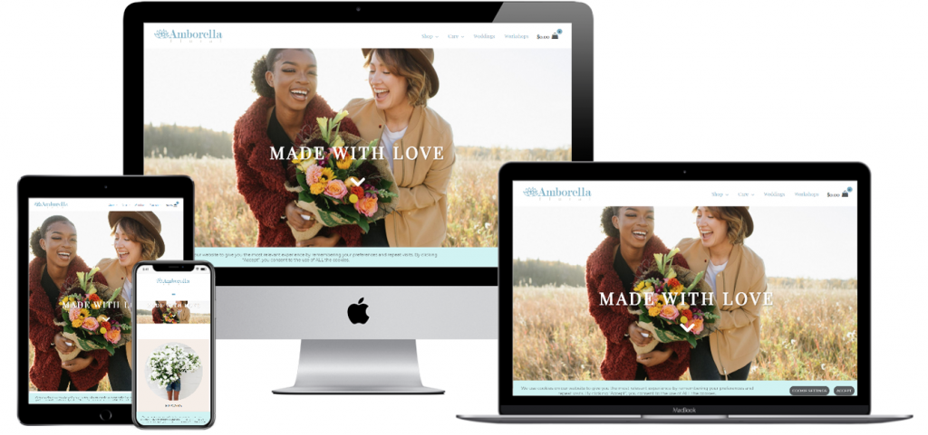 Web Design+Web Development+Floral+Delivery+Portfolio Item